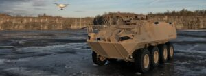 Counter UAS Sensors in Light Armoured Vehicle